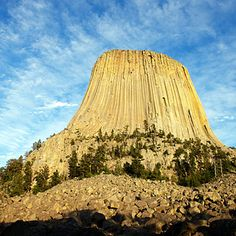 Devil's Tower National Monument, Wyoming    Nothing prepares you for the real thing: the 1300-foot chunk of granite rising out of Wyoming badlands is bigger than even the widest of wide-screen attractions.    It's a sacred site to Crow and Cheyenne peoples; once you see it (say on the Tower Trail, which circles the rock's base) you will understand why.
