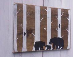 Rustic Bear Nursery Sign Woodland Nursery Decor by RusticLuvDecor