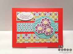 Stampin' Up!, PPA 149, Madison Avenue, Bloomin' Marvelous, Sycamore Street DSP, Floral Frames Collection Framelits, Vine Street Embossing Folder, 2 1/2 Circle Punch, Large Oval Punch, Itty Bitty Shapes Punch Pack