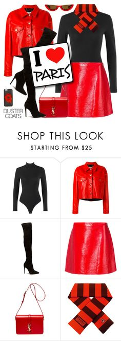 """""""Long Layers: Duster Coats"""" by shoaleh-nia on Polyvore featuring Alaïa, Golden Goose, Courrèges, Yves Saint Laurent and Fendi"""