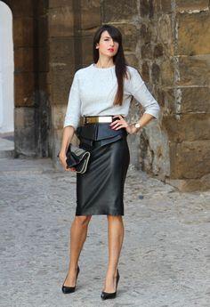 Comment porter la jupe longue en cuir 5 looks à copier Jupe Longue En Cuir, 28c3e5624c27