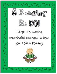 This file is a 60 page file containing ways to make meaningful changes in your reading program that will support your students as your return Back to School or anytime during the year.  $9.99