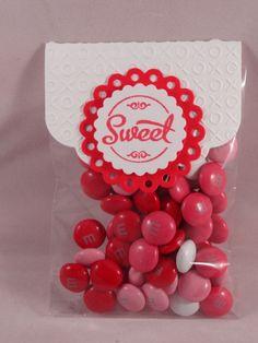 Valentine treat bag 3 Raisin Boat stamps used and spellbinders die's