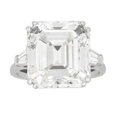 Harry Winston 13.24-carat Emerald-Cut Diamond Ring | See more rare vintage Engagement Rings at http://www.1stdibs.com/jewelry/rings/engagement-rings