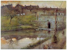 Carl Larsson - El estanue de watercolor, 1883