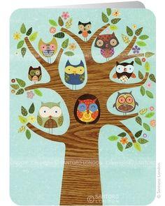 Friends of a feather, 2-osainen taitettava postikortti