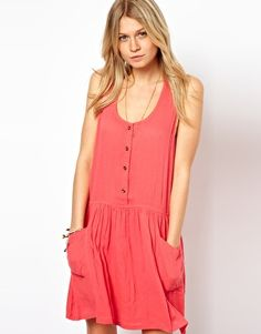 $42.43 // ASOS Pinafore Sundress With Pockets