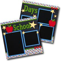 School Day Premade Scrapbook Pages