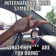 the international hand symbol