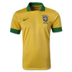 13-14 Brazil Home Yellow Jersey Shirt | Brazil Jersey Shirt sale | tiagoo