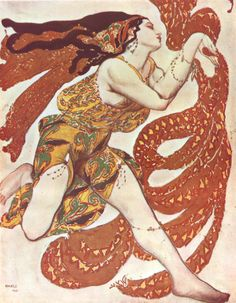 Narcisse Cover, 1911 by Leon Bakst (Russian painter & scene/costume designer for the Sergei Diaghilev circle and the Ballets Russes) (1866-1924)