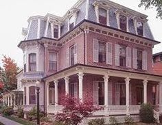 Pretty Pink Victorian House