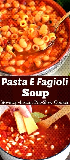 #ingredient #primarily #beansoup #italian #fagioli #classic #special #unlike #simple #flavor #beans #other #m... Italian Soup Recipes, Pasta E Fagioli Soup, Bean Soup, Chana Masala, Slow Cooker, Beans, Simple, Classic, Ethnic Recipes