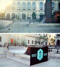""":::::::::#IDEIAS DE #DESIGN:::::::  Em Madrid, é proibido andar de skate. Para devolver a cidade aos fãs do skate, a Nomad skateboards e a agência Lola Madrid, criaram """"The Invisible Skate Ramps"""" - rampas escondidos no cenário! Smart!!"""
