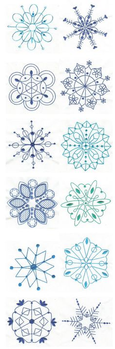 Embroidery | Free Machine Embroidery Designs | Simply Snowflakes Bluework