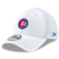 b16276a1e Chicago Cubs White Bullseye Neo 39Thirty Flex Hat by New Era  ChicagoCubs   Cubs