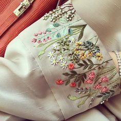 Floral hand work details #EmpressGarden #embroidered #21technique #SS16