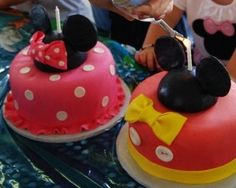 Aria & Rami party lol  Minnie and Mickey Mouse 1st Birthday Smash Cakes