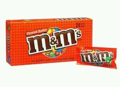 M&M Peanut Butter Chocolate Candies (24 Packs) 1.63oz each Milk Chocolate Candy
