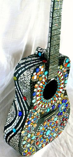 Stained glass guitar