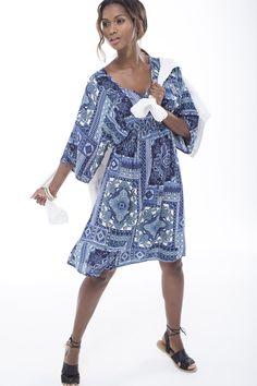 The printed bodycon midi dress. #miladys #dress #mididress #bodycon