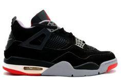 Michael Jordan Retro 4 Black Cement Grey Fire Red Shoes Air Jordan 4 Bred bffcd4e70
