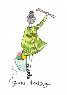 48 Ideas Sewing Illustration Art Fun For 2019 Knitting Quotes, Knitting Humor, Knitting Projects, Crochet Projects, Knitting Patterns, Knitting Wool, Crochet Patterns, Tricot D'art, Knit Art