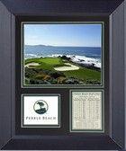 Pebble Beach 7th Hole Framed Golf Wall Décor Art 14 x 17
