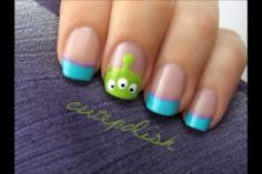 Toy story nails....if I'm.going to do Disney nails I may as well make it something Joaquin is into :)
