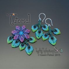 New Tutorial - Cellini Flowers and Leaves Beaded with Peyote Stitch