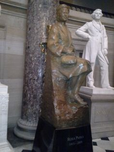 Sometimes what you don't do makes you a leader.  Rosa Parks refused to give up her seat. She is one of only two people from her state represented by a statue in the Capitol in D.C.