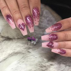 cute and beautiful Valentine's Day nails; red nail art designs; pink nails; heart nails; valentine's day coffin nail; acrylic nails.