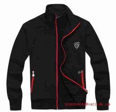 64dcd4b8d1 emporio armani mode homme,sweat zippe noir et rouge,sweat armani homme pas  cher france
