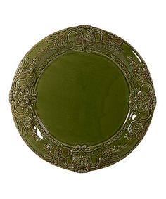 Set the table with this handsome ceramic salad plate. A simple design and bold green color complement any décor scheme. 8.5'' diameterCeramicDishwasher safeImported