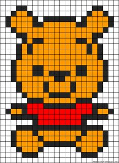 Baby Winnie the Pooh perler bead pattern