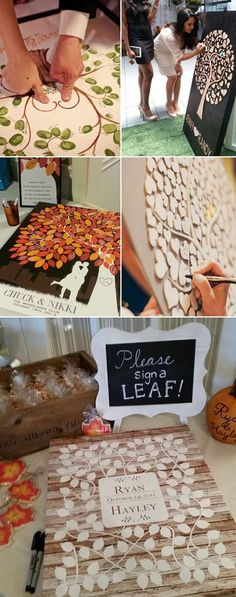 DIY tree guest book ideas for weddings