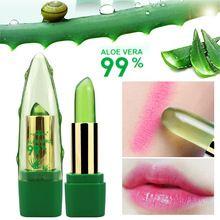 2017 Novo Batom 99% ALOE VERA Natural Moistourizing Mudança de Temperatura de Cor de Geléia Batom de Longa Duração Makeup Lip(China (Mainland))