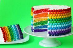 bolo colorido