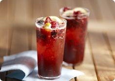 Cocktails and Party Drinks: Berry Sangria with Prosecco cups Blackberries, Raspberries or Sliced Strawberries, plus more for garnish 1 ounce lemon juice 1 ounce simple syrup 1 ounces Midori liquor Ice 1 ounces Prosecco Sparkling Sangria, Berry Sangria, Berry Berry, Breakfast Dessert, Dessert For Dinner, Summer Drinks, Fun Drinks, Beverages, Party Drinks