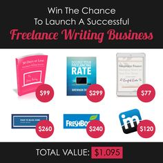 Enter to win the most epic aspiring freelance writer giveaway ever (prizes totalling $1,095)! Contest runs until 7/30/15.