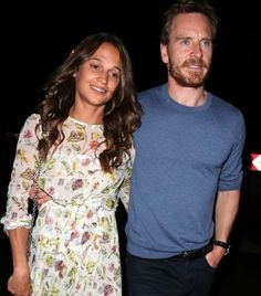 Michael Fassbender and Alicia Vikander outside the   hotel Caviar Kaspia in Paris on July 3, 2017