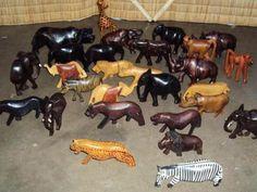 african wooden animal figurines
