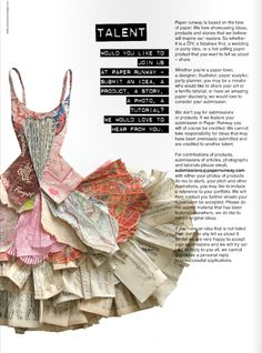 Loving the paper dress! I want to enter something like this one day!