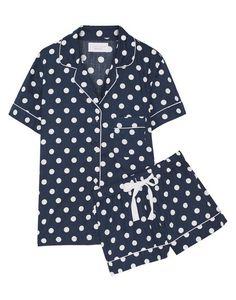 three j nyc polka dot cotton pajama set