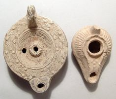 Lot of Two Ancient Pottery Oil Lamps Roman Empire 2nd 3rd Century Ad | eBay