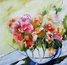 Petit instant 05 (Peinture),  30x40 cm par Véronique Piaser-Moyen Aquarelle originale sur papier 300G