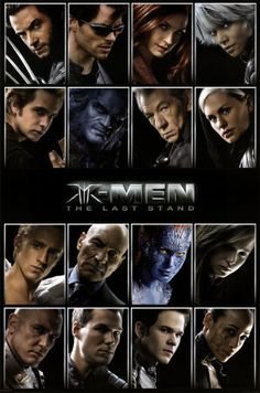Wolverine, Cyclops, Jean Grey, Storm, Pyro, Beast, Magneto, Rogue, Angel, Professor X, Mystique,