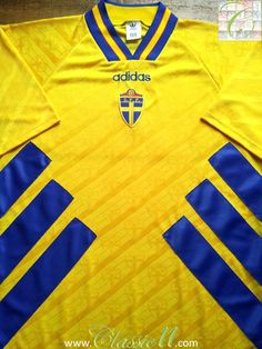 Relive Sweden's 1994/1995 international season with this vintage Adidas home football shirt.