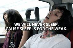 sleep Bring Me The Horizon oliver sykes matt kean lee malia ...