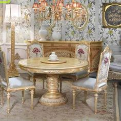 China furniture manufacturers supply custom round dining table set for 6 seat , you can save at least cost, provide one-stop door-to-door delivery service. Furniture Styles, Custom Furniture, Luxury Furniture, Dining Room Furniture, Home Furniture, Dining Chairs, Round Dining Table Sets, Furniture Factory, Real Estate Houses